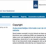 CC0 on Dutch Government web-site
