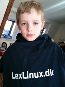 Vilhelm in his LexLinux tee